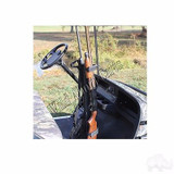 Golf Cart One-Piece Gun Rack for EZGO/Club Car/Yamaha