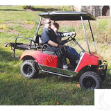 "Golf Cart 54"" Black Top for Club Car Precedent Golf Car Fits OEM Supports"