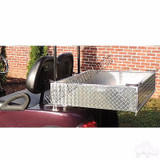 EZGO TXT Heavy Duty Diamond Plate Aluminum Utility Box Kit for EZGO Golf Cart