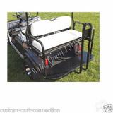 Club Car DS Super Saver Rear Flip Seat Kit for Golf Cart White Cushion