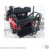 E-Z-Go TXT Super Saver Rear Flip Seat Kit for EzGo Golf Cart Black Cushion