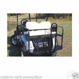 E-Z-Go RXV Super Saver Rear Flip-Flop Seat Kit for EzGo Golf Cart Black Cushion