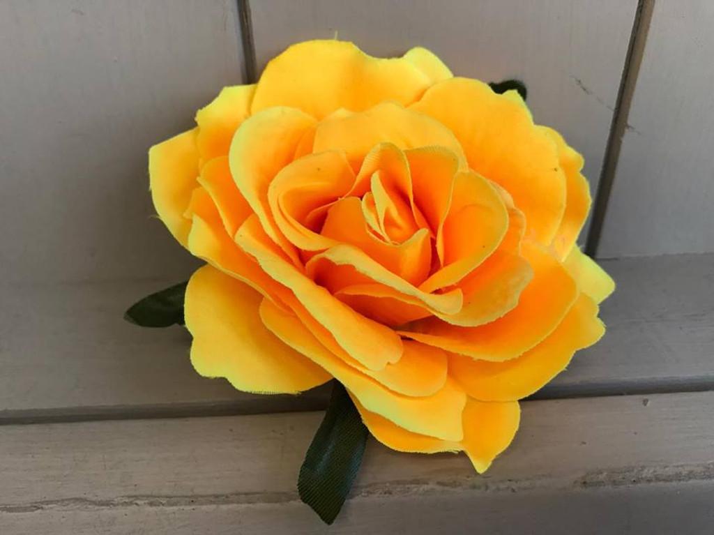 Pin Up Hair Roses - Yellow