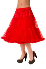 "25"" 1950s Soft Multi layered Petticoat - Red"
