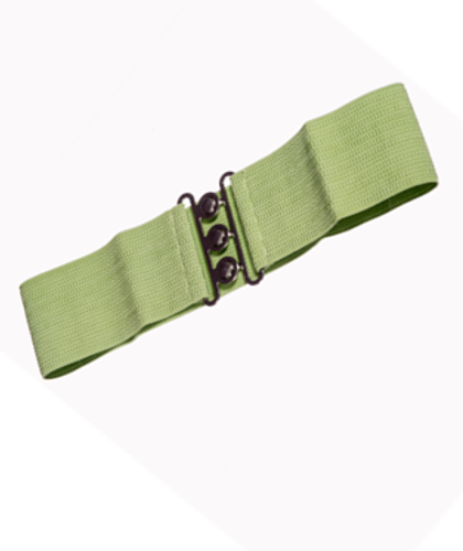 Vintage Stretch Belt - Green
