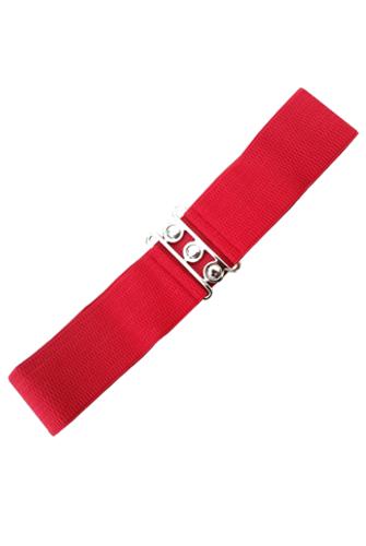 Vintage Stretch Belt - Red