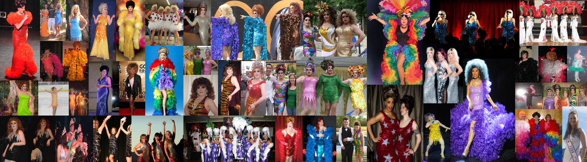 Beautiful sequin dresses made by SequinQueen and being worn by performers on stage