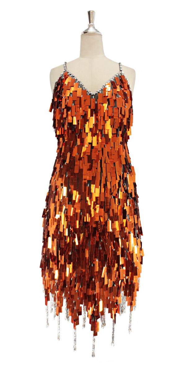 Orange Sparkly Dress