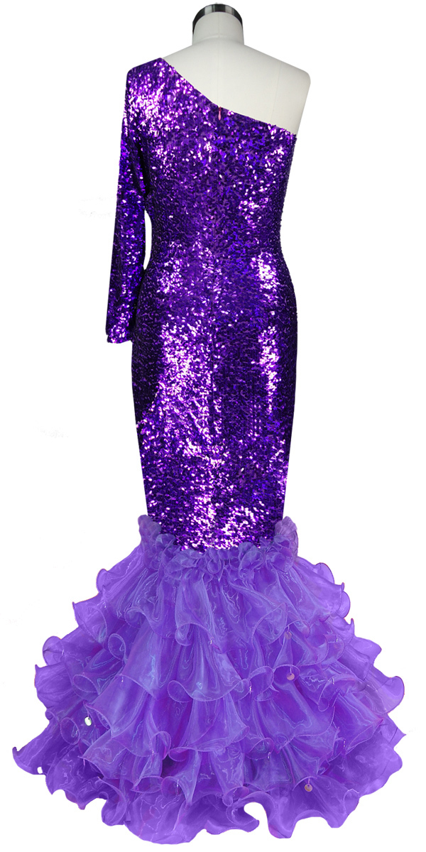 Long Dress | One-color | Metallic Purple Sequin Spangles Fabric ...