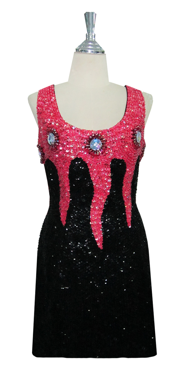 sequinqueen-short-black-and-pink-sequin-dress-front-3001-001.jpg