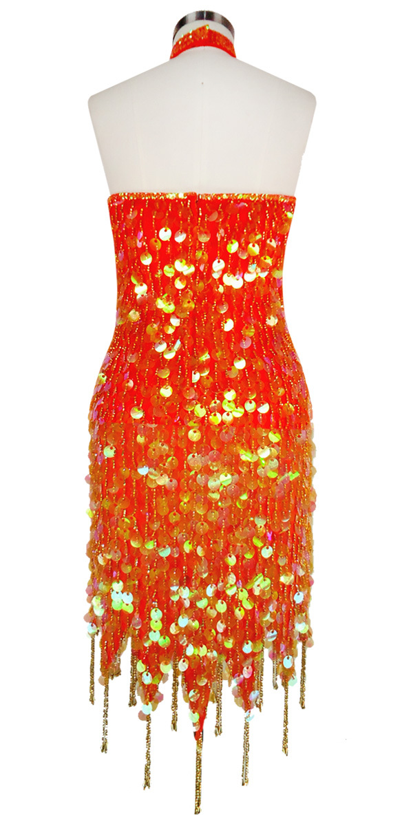 Short Chinese Collar Dress | Paillette Sequin Spangles ...