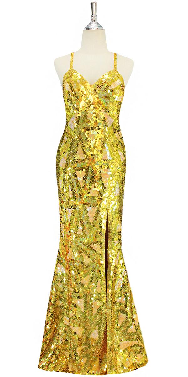 Long Dress | Handmade Swirl Pattern | 10mm Flat Sequin Spangles ...