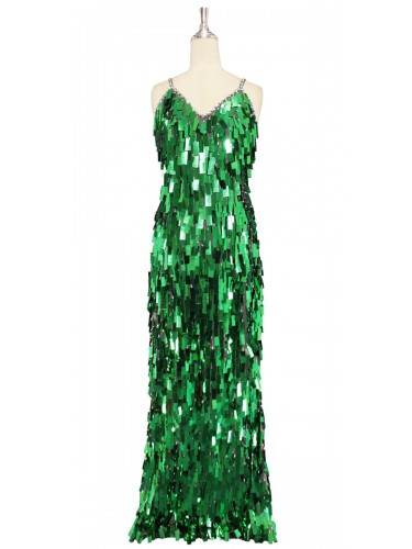 Long Dress   Handmade   Paillette Rectangle Sequin Spangles ...