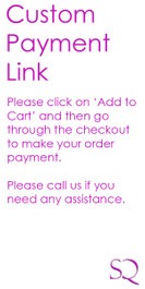 Custom Order Payment SKU-CO4