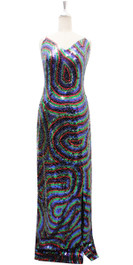 Long IN STOCK Handmade Dress In 8mm 6 Color Sequin Dress