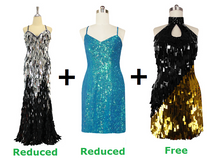 Buy One Long Handmade Sequin Dress And One Short Handmade Sequin Dress With Further 20% On Both And Get One Short Handmade Sequin Dress Free (SPCL-005)