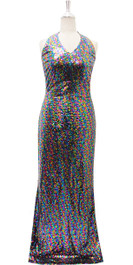 Long IN STOCK Sequin Fabric Dress In Mixed Colors