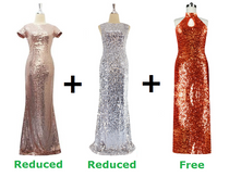 Buy Two Long Express Sequin Dress With Discounts On Both And Get One Long Express Sequin Dress Free (SPCL-006)