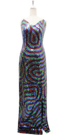 Long Handmade Dress In 8mm 6 Color Sequin Dress