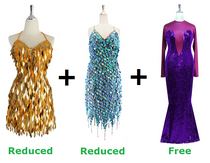 Buy Two Short Handmade Dresses With Further 20% On Both And Get One Long Express Dress Free (SPCL-011)