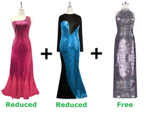 Buy Two Long Sequin Express Dresses With Further 20% On Both And Get One Long Sequin Express Dress Free (SPCL-014)