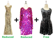 Buy One Long Baroque Sequin Dress And One Short Handmade Sequin Dress With Discounts And Get One Short Sequin Fabric Dress Free (SPCL-020)