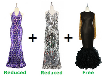 Buy 2 Long Handmade Dresses With Discounts On Each And Get 1 Long Sequin Fabric Dress Free (SPCL-042)