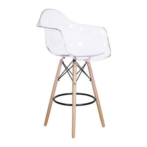 Charles Eames Style DAW Counter Stool Clear ABS Plastic  sc 1 st  Design Tree Home & Charles Eames Style DAW Bar Stool Black islam-shia.org