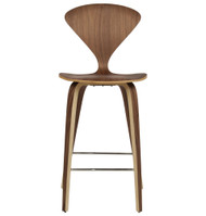 Satine Molded Plywood Counter Stool
