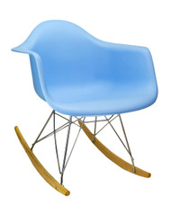 Charles Eames Molded RAR Rocking Chair in Blue