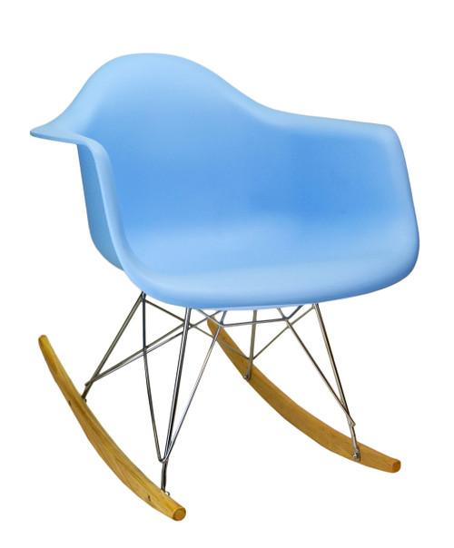 Charles Eames Molded RAR Rocking Chair in Blue
