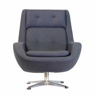 Koppla Swivel Chair in Dark Grey
