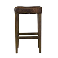 Ash Bar Stool in Vintage Brown Leather