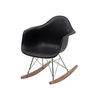 Charles Eames Molded RAR Rocking Chair in Black