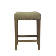 Ash Counter Stool in Beige (No Kickplate)