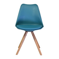 Charles Jacob Style Side Chair with in Teal