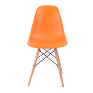 Charles Eames DSW Side Chair Mid Century Modern, Orange