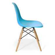 Charles Eames DSW Side Chair Mid Century Modern, Blue