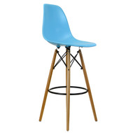 Charles Eames Style DSW Counter Stool - Blue