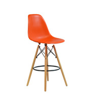 Charles Eames Style DSW Counter Stool in Orange