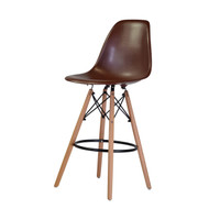 Charles Eames Style DSW Counter Stool in Brown
