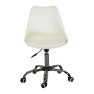 Charles Jacobs Style Office Chair in White