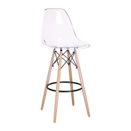 Charles Eames Style DSW Counter Stool in Clear