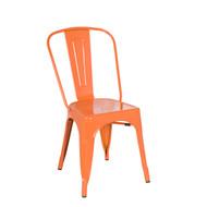 Bastille Side Chair in Orange Galvanized Steel