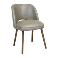 Mid Century Modern Barrel Backed Dining Chair