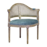 French Caned Back Occasional Chair