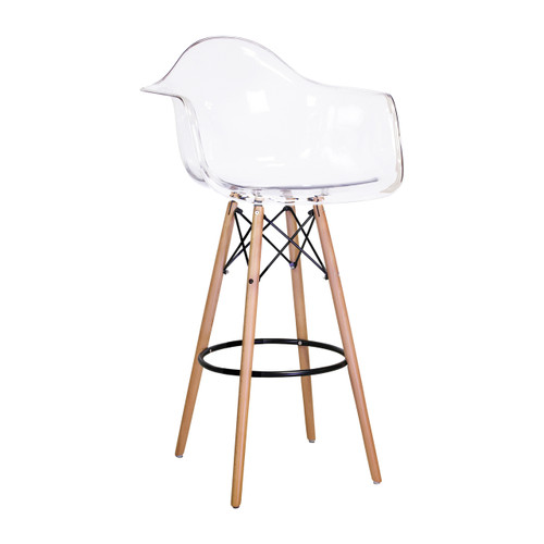 sc 1 st  Design Tree Home & Charles Eames Style DAW Bar Stool Clear ABS Plastic islam-shia.org