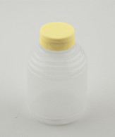 BOTTLE,1-LBROUND SQUEEZE,W/LID