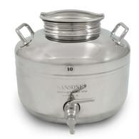 10 Liter Stainless Steel, Fusti Tank