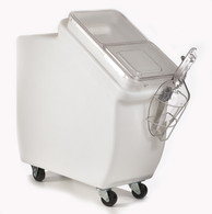 SCOOP BIN,12-GAL.BIN/SLIDE/CASTERS/SCOOP ASSY.